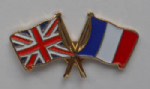 Great Britain and France Friendship Flag Pin Badge
